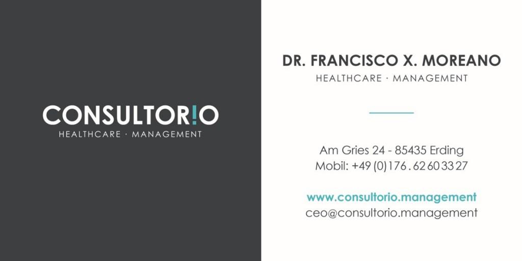 Consultorio Unternehmensberatung für Ärzte Zahnärzte MVZ Praxisbewertung Management VISITENKARTE